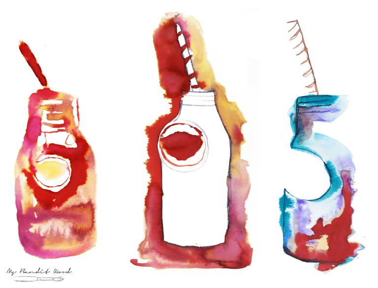 Milk Bottle Red