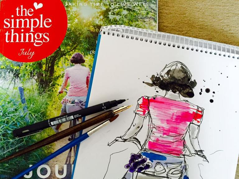 The Simple Things Magazine Cover - Ms Bandit Wood Art